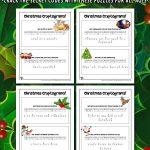 Christmas Cryptogram Puzzles