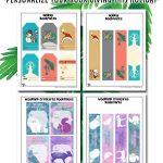 Printable Christmas Bookplates and Bookmarks