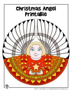 Blonde Angel Printable Christmas Ornament