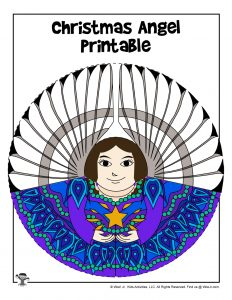 Brunette Printable Angel Childrens Craft