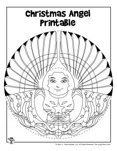 Printable Paper Angel Ornament to Color