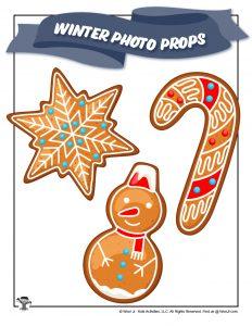 Printable Gingerbread Cookies Props