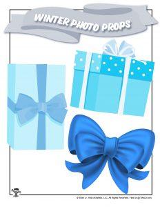 Free Printable Holiday Gift Bow