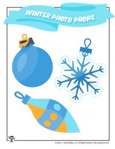 Holiday Tree Ornament Snowflake Props