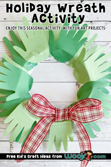 Holiday Handprint Wreath Activity