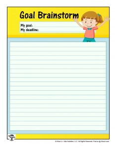 Printable Goal Brainstorm Worksheet