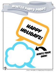 Printable DIY Holiday Speech Bubble Photo Prop