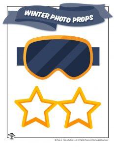 Printable Photoshoot Star Glasses Mask