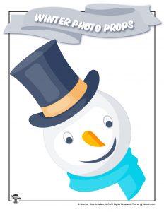 Printable Snowman Photo Prop