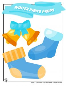 Printable Stocking Holiday Bell Photoshoot