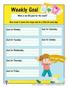 Printable Weekly Goal Setting Planner