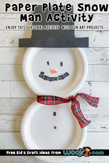 Paper Plate Snow Man Activity