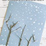 Snowy Winter Trees Art Project