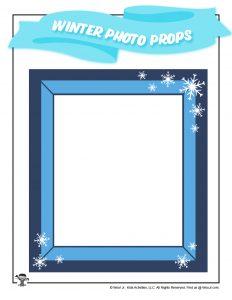 Winter Wonderland Snowy Picture Prop