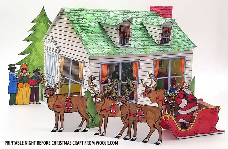 Printable Christmas Diorama