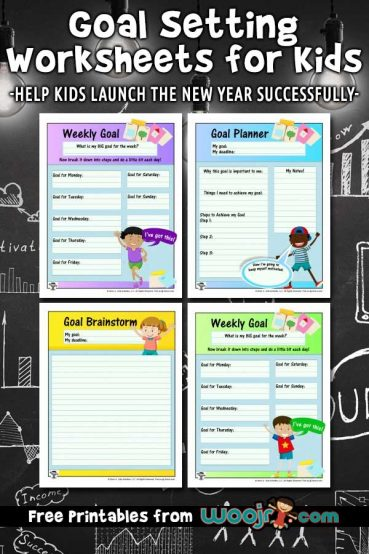 Goal Setting Worksheets for Kids
