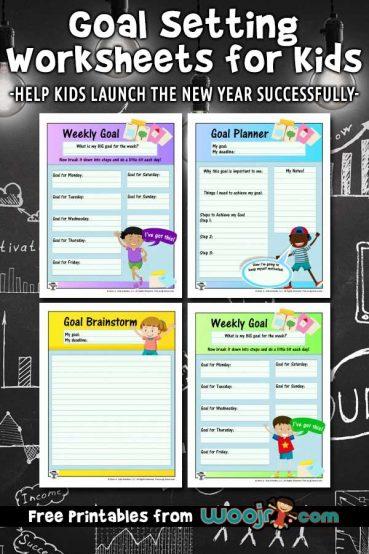 Goal Setting Worksheets for Kids