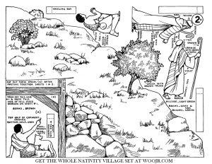 Nativity Shepherd, Dog & Lamb