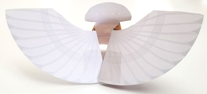 Assembling these printable paper angels