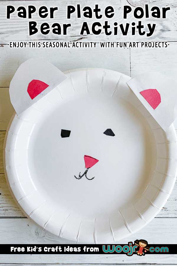 Paper Plate Polar Bear