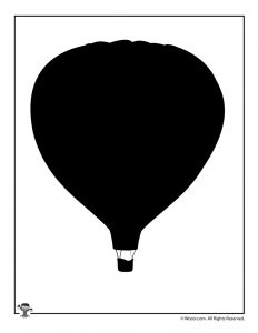 Hot Air Balloon Transportation Template