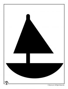 Printable Sailboat Shape