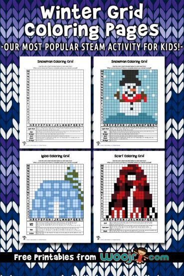 Winter Grid Coloring Pages