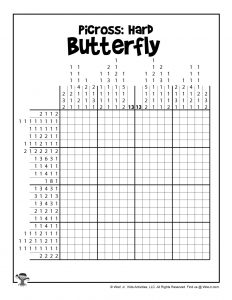 Butterfly Difficult Picross Puzzle