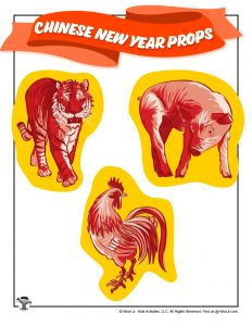 Chinese New Year Tiger, Rooster & Pig