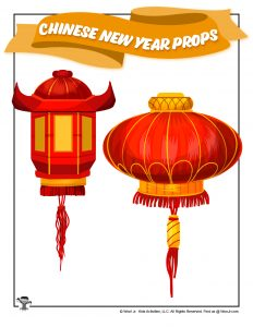 Chinese New Year Lanterns Decor Props