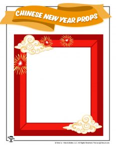 Chinese New Year Photo Frame Printable Prop