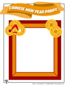 Printable Photo Prop Frame for Chinese New Year