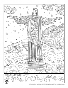 Christ the Redeemer Statue Hidden Picture Activity Page