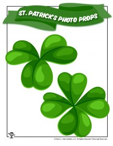 Four Leaf Clover Printable Photo Prop