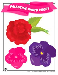 Free Printable Flower Photo Props