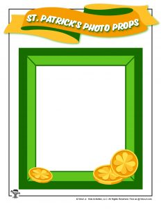 St. Patrick's Day Frame Photo Booth Prop