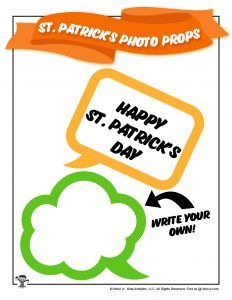 St. Patty's Day Speech Bubble Photo Props