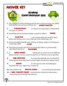Green Reading Comprehension - ANSWER KEY