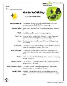 Green Transportation Vocabulary Study Tool