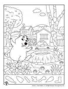 Groundhog Day Hidden Picture Worksheet