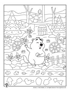 Happy Groundhog Day Hidden Object Printable