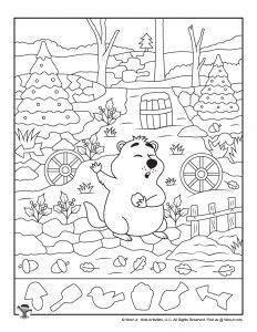 Happy Groundhog Day Hidden Object Printable