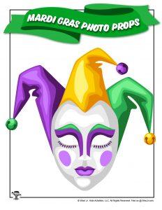 Jester Mardi Gras Mask Photo Prop