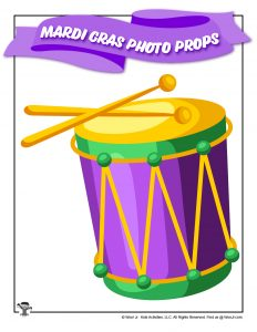 Mardi Gras Drum Cutout Photo Prop