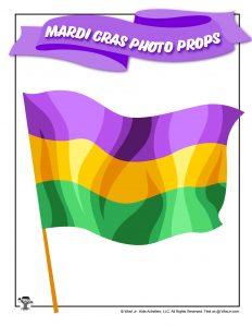 New Orleans Mardi Gras Flag Photo Prop