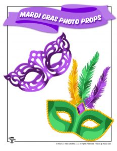Mardi Gras Feather Mask Photo Booth Prop