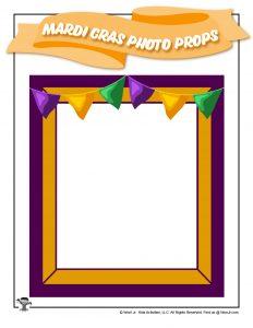 Mardi Gras Banner Photo Frame Prop