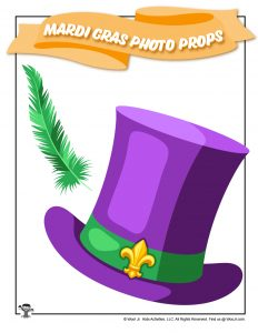 Mardi Gras Top Hat Feather Photo Props