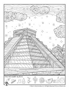Mayan Ruins Hidden Picture Printable