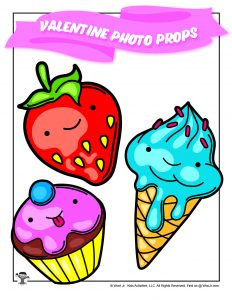 Printable Cute Sweet Treats Photo Props